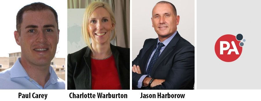 Paul Carey, Charlotte Warburton, Jason Harborow, PA Consulting