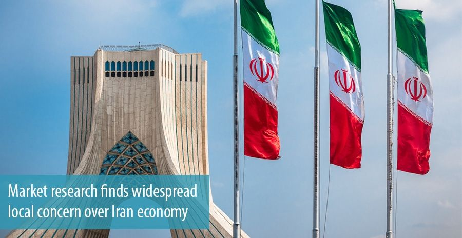 Market research finds widespread local concern over Iran economy