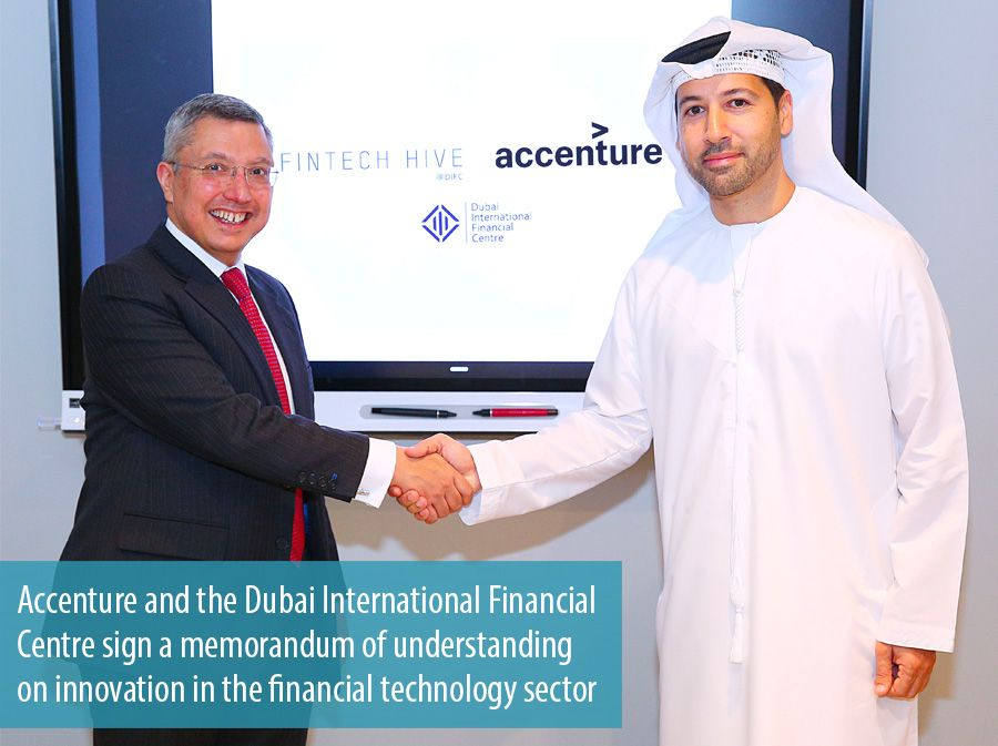 Accenture and the Dubai International Financial Centre sign a memorandum of understanding