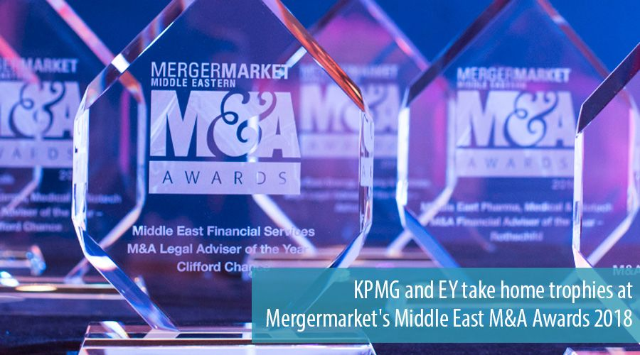 KPMG and EY acknowledged at Middle East M&A Awards for 2018