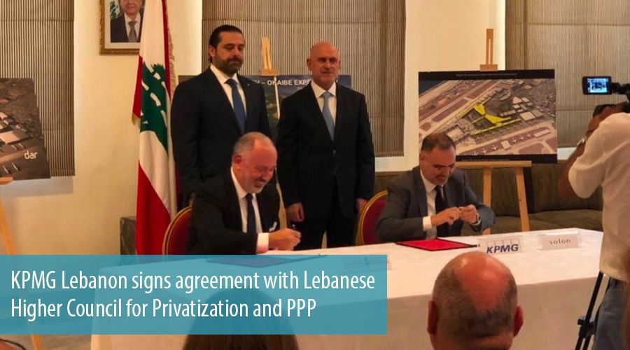 KPMG Lebanon signs agreement with Lebanese Higher Council for Privatization and PPP