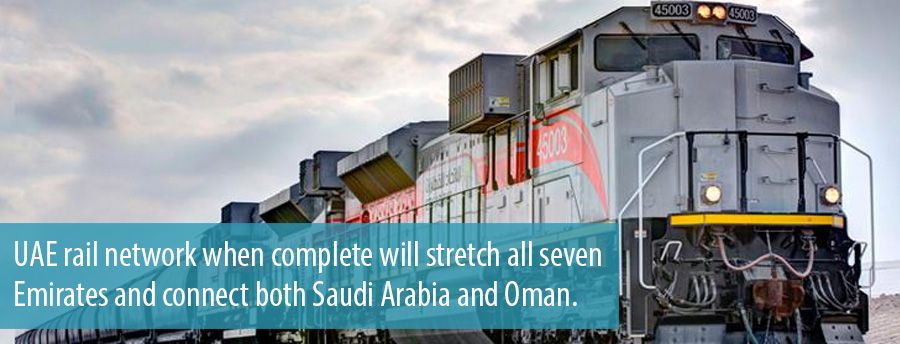 UAE rail network when complete will stretch all seven Emirates and connect both Saudi Arabia and Oman.