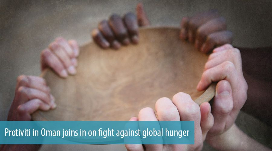 Protiviti in Oman joins in on fight against global hunger