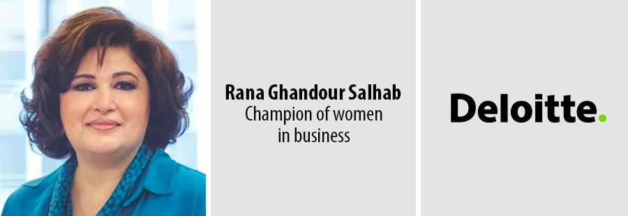 Deloitte's Rana Ghandour Salhab named champion of diversity on global list