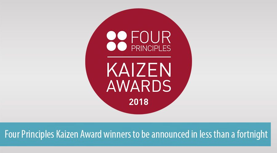 Four Principles Kaizen Award winners to be announced in less than a fortnight