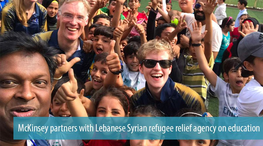 McKinsey partners with Lebanese Syrian refugee relief agency on education