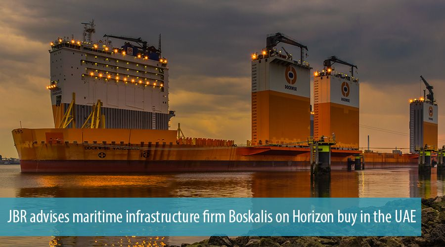 JBR advises maritime infrastructure firm Boskalis on Horizon buy in the UAE