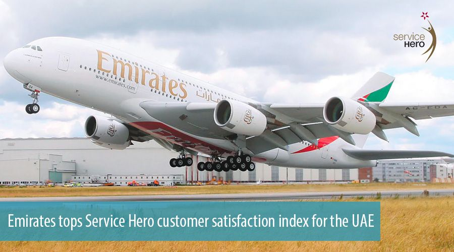 Emirates tops Service Hero customer satisfaction index for the UAE