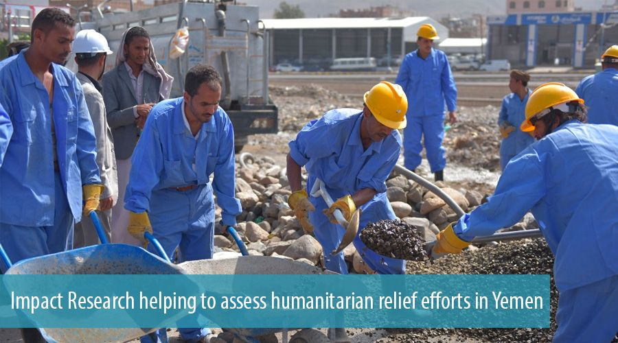 Impact Research helping to assess humanitarian relief efforts in Yemen