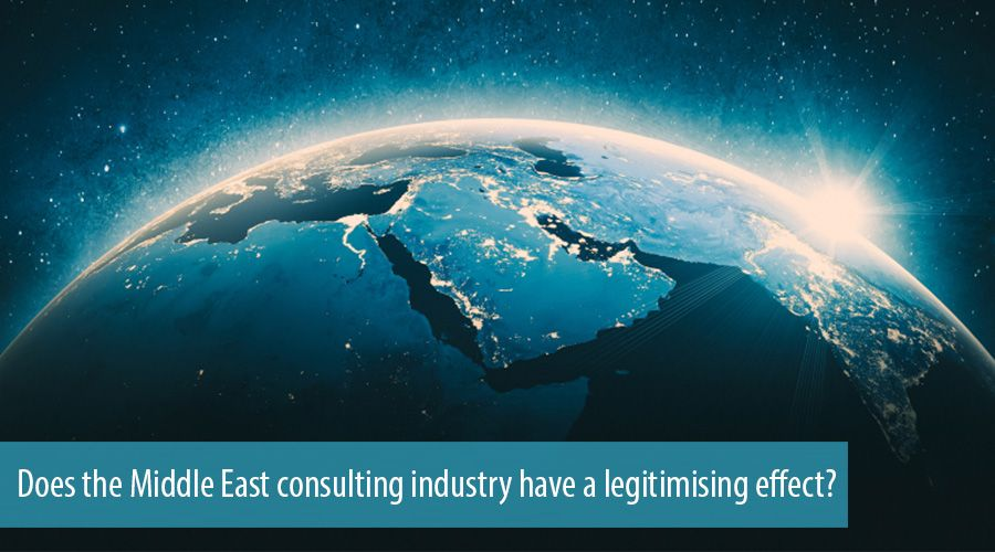 Does the Middle East consulting industry have a legitimising effect?
