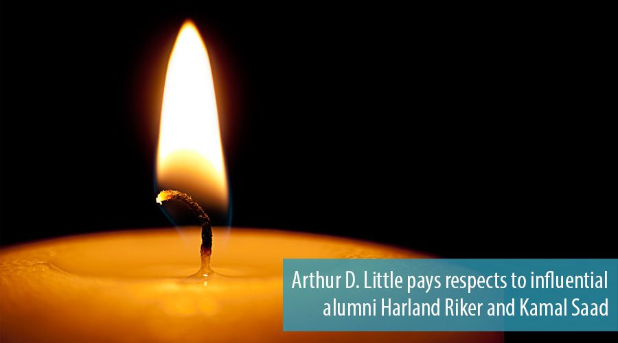 Arthur D. Little pays respects to influential alumni Harland Riker and Kamal Saad