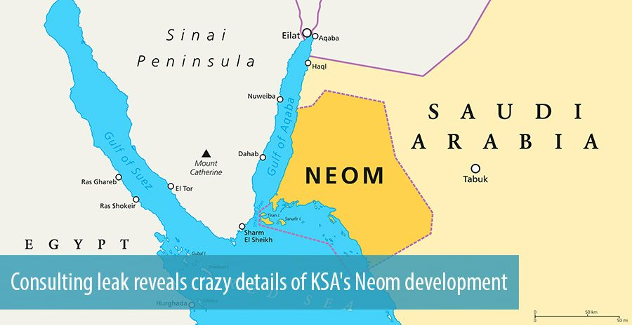 Consulting leak reveals crazy details of KSA's Neom development