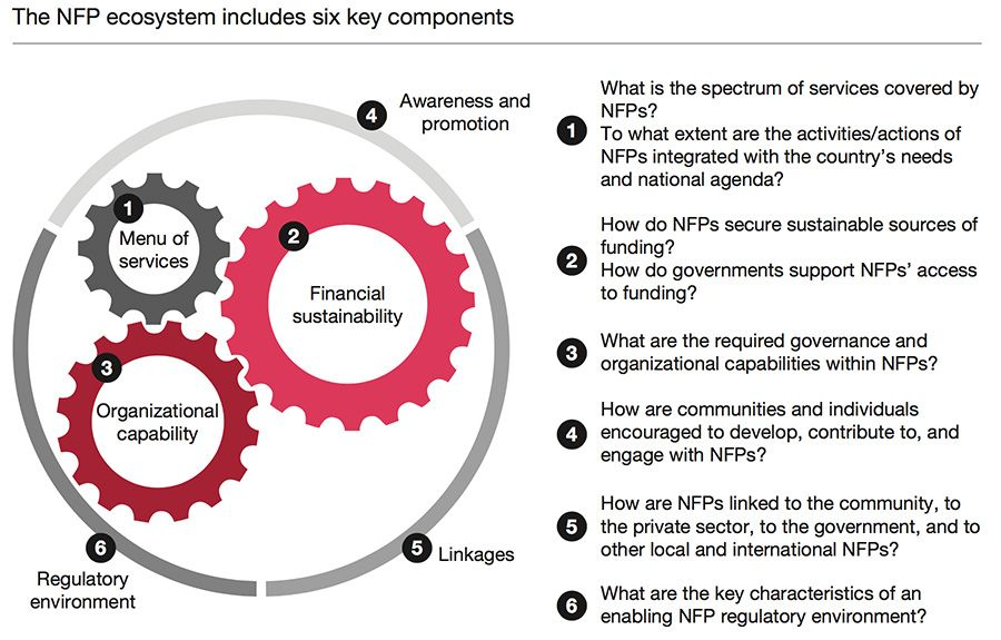 The key components for developing a not-for-profit ecosystem
