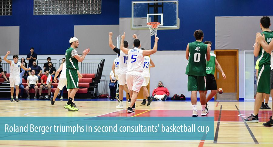 Roland Berger triumphs in second consultants' basketball cup