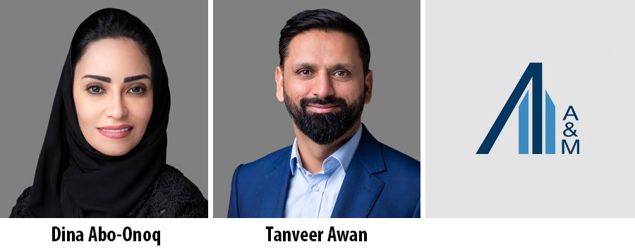 Dina Abo-Onoq and Tanveer Awan, Managing Director at Alvarez & Marsal