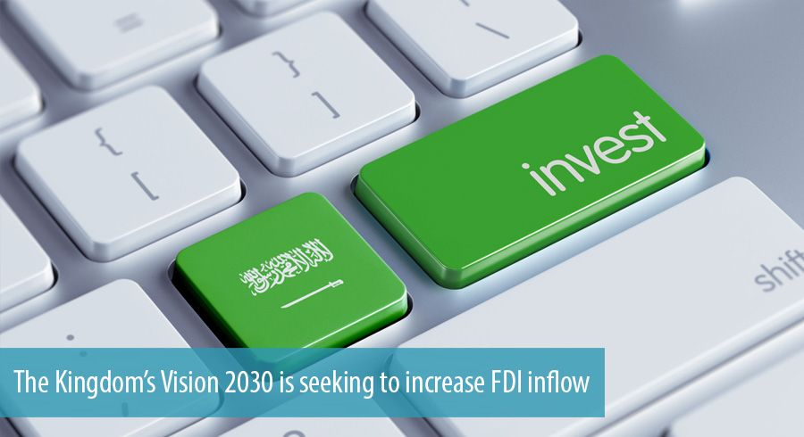 The Kingdom's Vision 2030 is seeking to increase FDI inflow