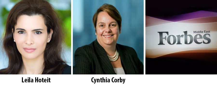 Leila Hoteit and Cynthia Corby on Forbes regional businesswomen list