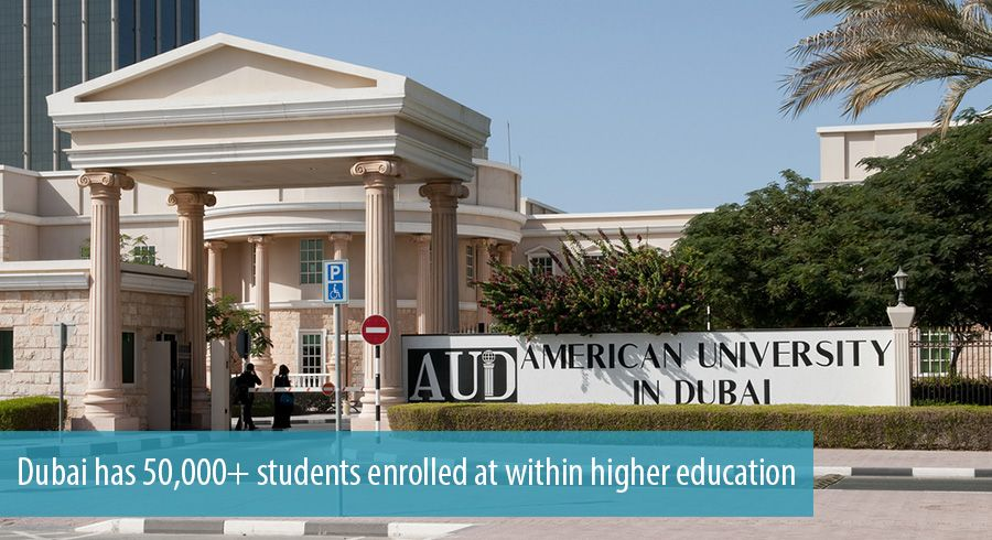 Dubai has 50,000+ students enrolled at within higher education