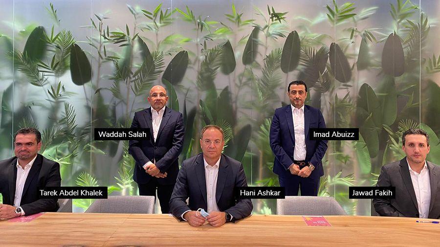 Tarek Abdel Khalek, Jawad Fakih, Hani Ashkar, Waddah Salah and Imad Abuizz