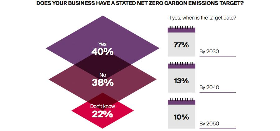 DOES YOUR BUSINESS HAVE A STATED NET ZERO CARBON EMISSIONS TARGET