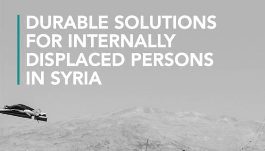 MENA research consultancy delivers report on Syrian internal displacement crisis
