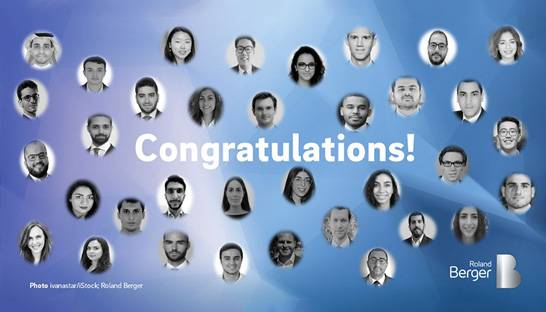 Roland Berger promotes 35 consultants in the Middle East